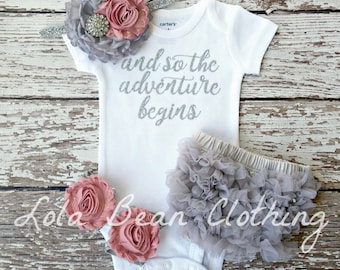 Baby Girl Coming Home Outfit \\ Baby Girl Take Home Outfit \\ Baby Girl Clothes \\ Baby Shower Gift \\ lolabeanclothing \\ Baby Girl Outfit