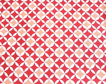 Laminated cotton fabric 50 x 70 cm graphic coral