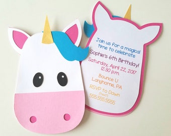 Unicorn Party Invitations - Pack of 10