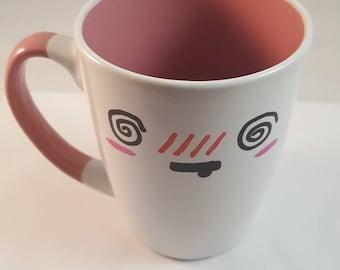 Hand-Painted Swirly Eyed Kawaii Mugs