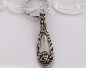 Antique Spoon Key Ring - LA VIGNE 1908 - Nice Gift - Ready To Ship USA Made
