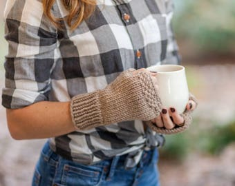 Knit Fingerless Gloves Wrist Warmers
