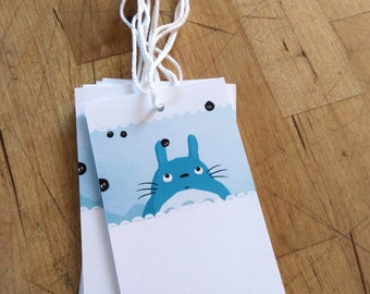 Set of 6 Totoro gift tags