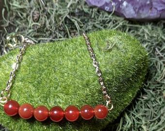 Red Carnelian Bar Bracelet