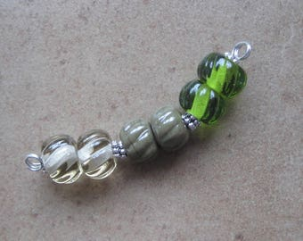 Lampwork Beads - SueBeads - Twisted Texture Beads - Twisted Texture - Bead Set - Glass Bead Set - Handmade Lampwork Beads - SRA M67