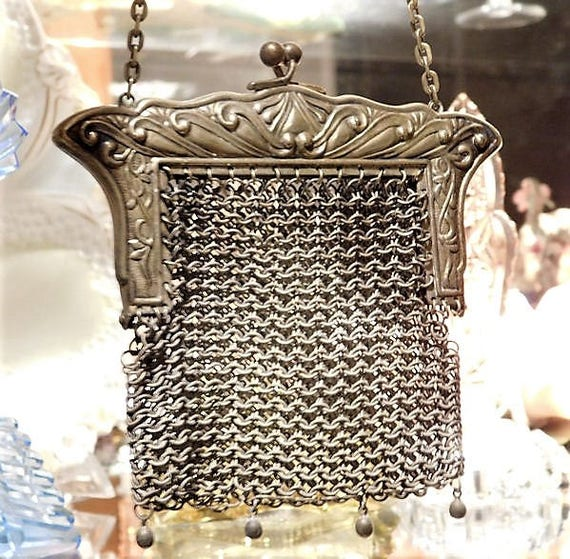German Silver Chain Metal Steel Mesh Chainmaille Coin Purse