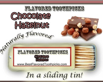 Chocolate Hazelnut Flavored Toothpicks - 70+ Flavors! Unique Gifts For Men, Unique Gifts For Teachers, Unique Gifts For Sisters, Candy Ideas