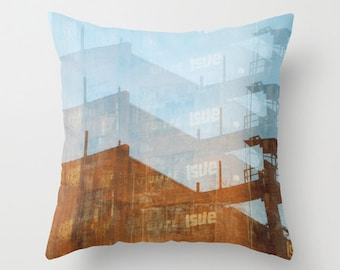 accent pillow pitsburgh art surreal photography decorative throw pillow cover photo pillow cover industrial decor abandoned architecture