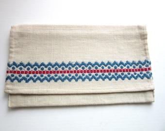 Scandinavian Linen Handkerchief or Silverware Case Handmade
