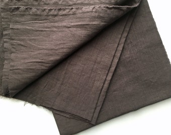 cotton double gauze fabric. soft japanese pure cotton fabric. 102cm (40in) wide. sold by 50cm (19in) long / half yard. dark chocolate