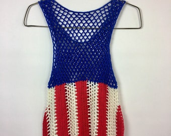 Vintage Knit Flag Tank