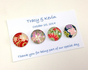 Custom Wedding Favor Magnets- 4 magnets per box QUANTITY 25