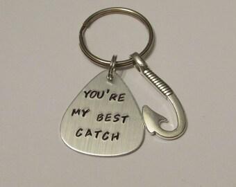 My Best Catch, Fishing Lure Keychain, Anniversary Gift, Fisherman Gift, Husband Gift, Lure, Customized Lure, Spouse Gift, Fishing Lure
