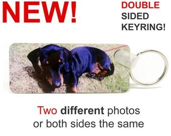 Double Sided Personalised Photo Keyring - Premium Quality