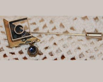 Artisan Sterling Silver Stick Pin Vintage 1980s
