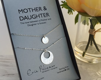 Mother Daughter Gift Mother Daughter Necklace Gifts for Mom Necklace Mother of the Bride Gift Mom Birthday Gift for Her Bridal Party Gifts