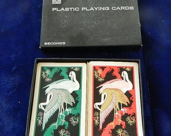 Vintage Complete Double Deck Kem Flamingos Playing Cards