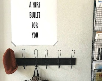 I'd take a Nerf bullet for you poster
