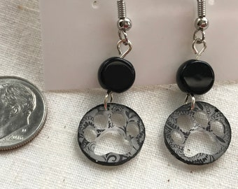 Paw Prints and Paisley Earrings