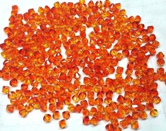 Swarovski Crystal 5328 6mm XILION Fire Opal Bicones - Bag of 25