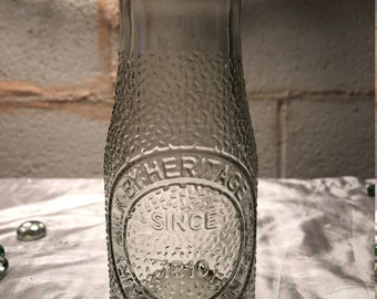 Half Pint Sized Retro-Style Glass Milk Bottle