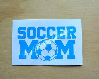 Soccer mom decal, soccer ball sticker,  sport mom decal, vinyl sticker, Yeti soccer custom decal, soccer mom sticker, soccer mom car decal