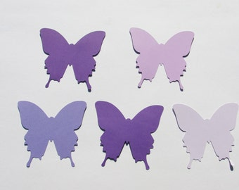 Purple  butterfly cut outs butterfly punches butterfly confetti  50 ombre butterfly punches