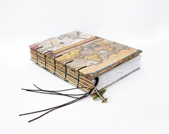 Antique world Map Collection - Travel Journal, Notebook, Sketchbook