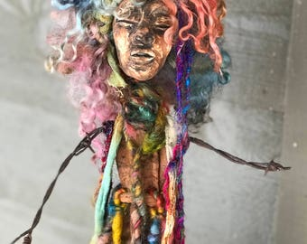 Bohemian spirit doll sculpture
