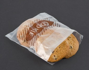 """25 Clear """"Cookie"""" Bags"""