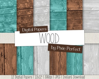 Wood Digital Paper Wood Backgrounds, WOOD Digital Wood Paper Backgrounds Instant Download Commercial Use Wood Textures (77)