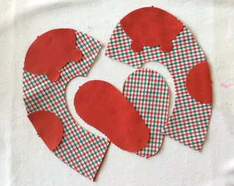 baby shoe sewing kit cotton flannel