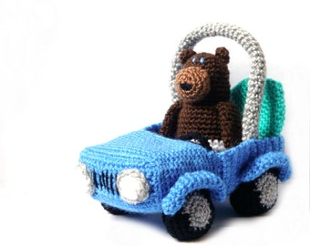 Amigurumi Pattern -Bear & Car- Crochet Bear Pattern