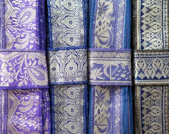 Silk Trim, Vintage Sari borders SR601