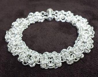 Celtic Labyrinth Chainmail Bracelet