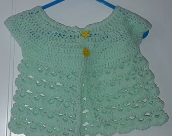Babies crocheted cardigan