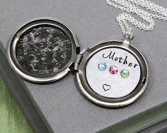 Personalized Locket, Mother Necklace, Mother's Necklace, Personalized Necklace for Mother, To Mom From Daughter Gift, Mother's Day Gift