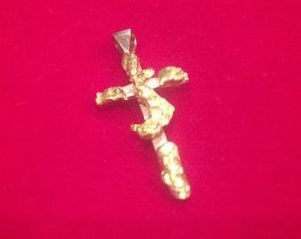 Gold nugget cross