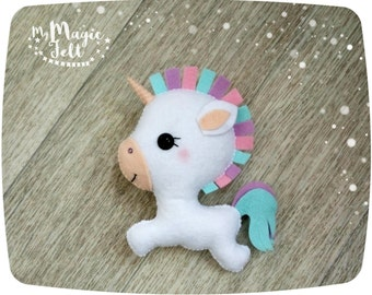 Cute Unicorn felt ornament unicorn Christmas ornament Easter decor felt cute toy Christmas ornaments felt