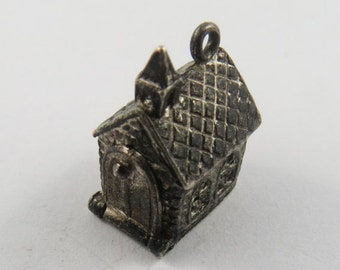 A Little Country Church Sterling Silver Charm.