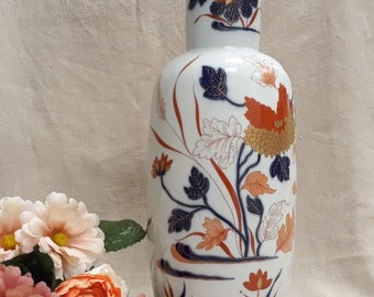 Large hand painted vase VISTA ALEGRE Imari-Porcelain-years ' 80