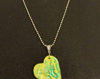 Mermaid at Heart on Ball chain necklace