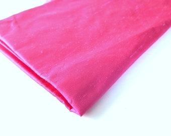 1.25 Yard Hot Pink Iridescent Dupioni Fabric