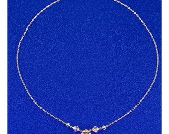 Necklace made with crystals by Swarovski