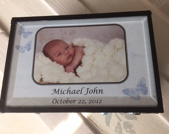 Customized  stained glass memory box