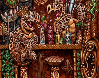 BigToes Honu Bar Medium archival art print