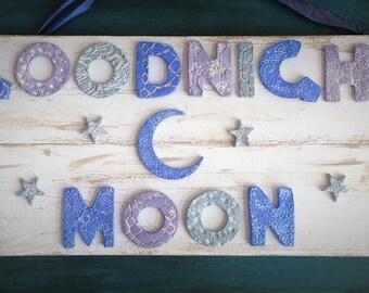 Ceramic Goodnight Moon Sign