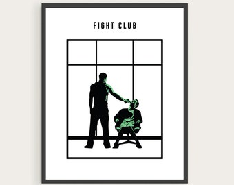 Fight Club, Tyler Durden, Minimal Movie Poster.