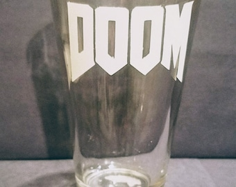 DOOM pint glass / Video game pint glass / beer glass