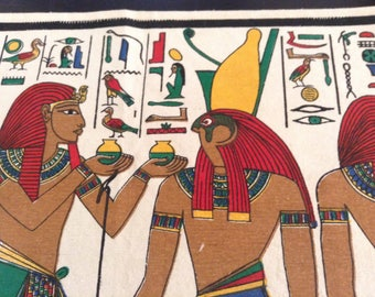 Egyptian Tapestry / Nefertari and Horus